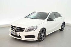 Used 2013 (13 reg) White Mercedes-Benz A Class A180 CDI BlueEFFICIENCY AMG Sport 5dr - HALF LEATHER - BLUETOOTH - XENONS for sale on RAC Cars