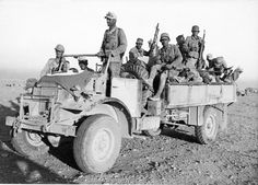 A captured Canadian built Ford 3 ton truck used by Afrika Korps forces to transport troops across the desert Army Vehicles, Armored Vehicles, Afrika Corps, North African Campaign, Erwin Rommel, Germany Ww2, Military Pictures, War Photography, German Army