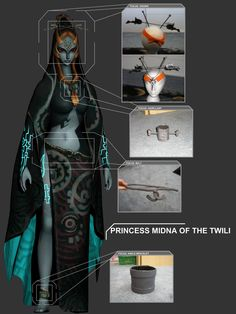 Midna Accessories Commission by Liquidfire3 on deviantART