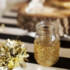 Gold is definitely in right now! I love it, especially paired with black. So chic! (via The Sweetest Occasion)
