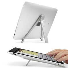 Portable Lightweight Universal Foldable Desk Stand For Apple iPad / iPad 2 / Notebook / Laptop Tablet Stand, Ipad Stand, Phone Stand, Gadgets And Gizmos, Technology Gadgets, Tech Gadgets, Tech Accessories, Cell Phone Accessories, Tecnologia