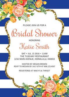 Invitación de despedida de soltera de por StrawberryPartyPrint