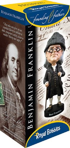 #BenFranklin is one of the more popular #RoyalBobbles #Bobbleheads and it comes with this impressive Collector's Box.