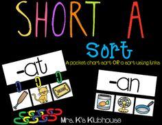 Short A word family sort //Mrs. K's Klubhouse on TPT
