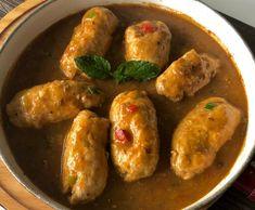 Kolorowe roladki wieprzowe - Blog z apetytem Mozzarella, Sausage, Chicken, Meat, Blog, Sausages, Blogging, Cubs, Chinese Sausage