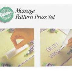 Product: 1999  Block Letter Message Pattern Press Set  £5.82