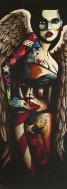Strangel // Art by Terry Bradley Smart Art, Irish Art, Epic Art, Love Art, Illustration Art, Illustrations, Street Art, Art Gallery, Artsy