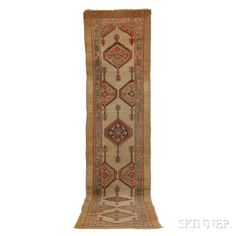 Antique Hamadan Runner, Iran, c. 1900, 16 ft. 7 in. x 3 ft. 6 in. | Skinner Auctioneers Sale 2884B