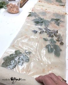 Wonderful Wool Eco Printing - Made By Barb - upcycle blankets with botanical prints of leaves and onion skins