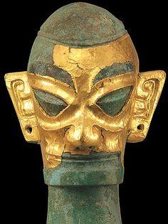 Bronze head, Sanxingdui Ruins, Sichuan (4800 years ago) Photo by Jiang Cong