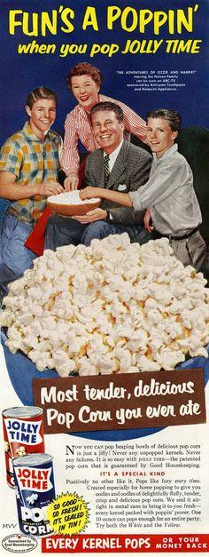 Jolly Time Popcorn, 1954