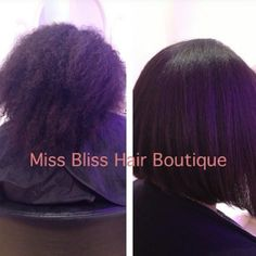 Keratin Treatment before and after by Gabrijela from Miss Bliss Hair Boutique 0410139107 / 55114753  www.missblissonline.com.au