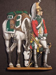 Zinnfiguren Dragoon Trumpeter