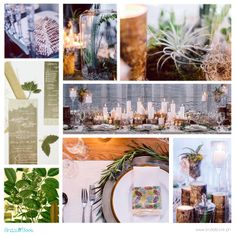 An earthy palette featuring shades of white, brown, and green strikes a laid-back ambiance that will complement your botanical decor. | www.BridalBook.ph