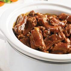 Porc aux pommes et à la bière - Les recettes de Caty Egg Rolls, Mets, Chicken Wings, Food And Drink, Instant Pot, Slow Cooker Recipes, Apples, Sausages, Syrup