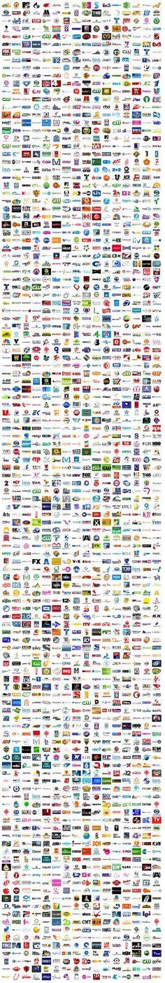 9,000 TV logos by Tanner http://tannerchristensen.com/