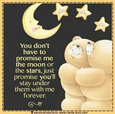 I will I promise Bear Cartoon Images, Love Quotes Pinterest, Good Night For Him, Hug Quotes, Qoutes, Love Bears All Things, Teddy Bear Pictures, Blue Nose Friends, Snoopy Love