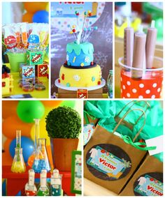 Scientist themed birthday party via Kara's Party Ideas |