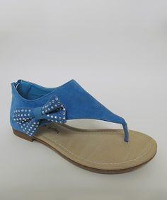 Turquoise Bow Jessie Sandal