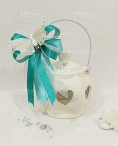Bomboniere Matrimonio Lanterna Piccola Ceramica di un meraviglioso color Bianco, confezionata e pronta da dare ai vostri invitati!
