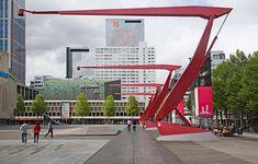 Rotterdam's Schouwburgplein, or Theatre Square, West 8 - lights and paving