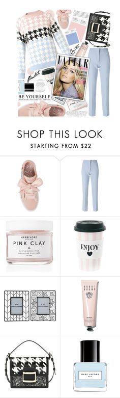 """""""Pastel rhapsody,so modesty!"""" by jelena-bozovic-1 ❤ liked on Polyvore featuring Puma, Victoria, Victoria Beckham, Herbivore, Miss Étoile, Bobbi Brown Cosmetics, H&M, Roger Vivier, Marc Jacobs and pastelsweaters"""