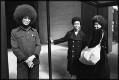 Toni Morrison (right) with her son, Slade, and Angela Davis: photos by Jill Krementz