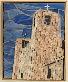 Church at Acuma by Barry #mosaic #mosaicbuildings