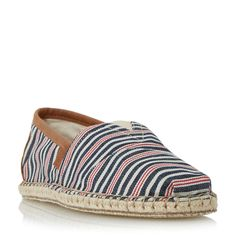 Toms Striped espadrilles, Multi-Coloured