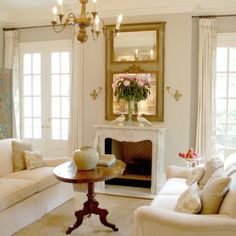 Living room- peaceful, elegant, simple.