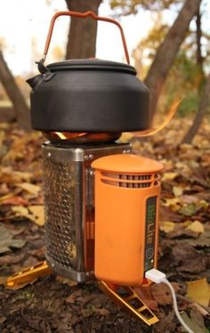 BioLite CampStove, charges gadgets in the wilderness via a thermoelectric module.