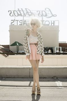 Sequins and chiffon (by Alysha Nett) http://lookbook.nu/look/3574443-sequins-and-chiffon