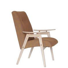 Oryginalny fotel produkcji czechosłowackiej fabryki TON. Wykończony został…