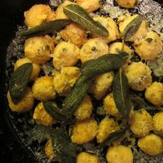 """Sweet Potato Gnudi with Sage Butter 