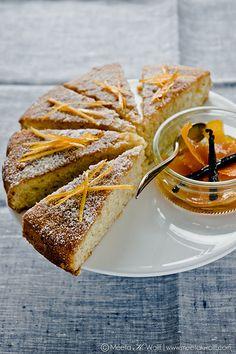 Orange Vanilla Semolina Cake