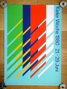 Kieler Woche Poster - 1980 Poster for the 1980 Kieler Woche Festival. Designed by Jean Widmer.