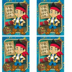 Amazon.com : Jake and the Neverland Pirates Party Invitations - 24 Guests : Childrens Party Invitations : Toys & Games