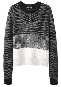 Love the Proenza Schouler / Mixed Knit Pullover on Wantering | proenza  schouler | chunky knit