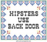 PDF: Hipsters Use Back Door | Subversive Cross Stitch