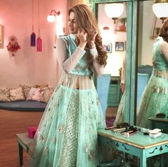 Jennifer winget as Zoya Pakistani Dress Design, Pakistani Bridal, Indian Gowns Dresses, Pakistani Dresses, Kurta Designs Women, Blouse Designs, Indian Wedding Outfits, Indian Outfits, Lehnga Dress
