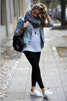 Love wearing my jean jacket... And I love the casual yet stylish mood of this outfit
