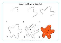 Learn to Draw a Starfish