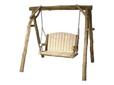 "Shop for Rustic Log Yard Swing (48""W) in Natural Panel & Natural Log, YSWI-48-NN, and other OutdoorPatio Swings at High Country Furniture & Design in Waynesville, NC - North Carolina."