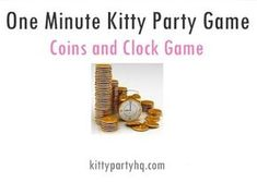 Things Needed: A Paper Pen& Coins of different denomination Clock to watch time Time Span: One Minute How To Play: Draw Clock on the plain paper. Write Number 1 to 12 on it. In one minute, p… Ladies Kitty Party Games, Kitty Party Themes, Kitty Games, Cat Party, Parlor Games For Adults, One Minute Party Games, Clock Games, Pen And Paper Games, Clock Numbers
