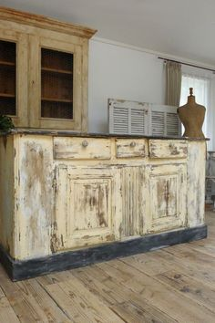 French antique counter cabinet