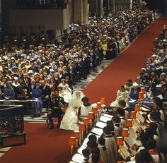 Wedding ceremony of Prince Charles and Lady Diana at St. Paul's Cathedral.