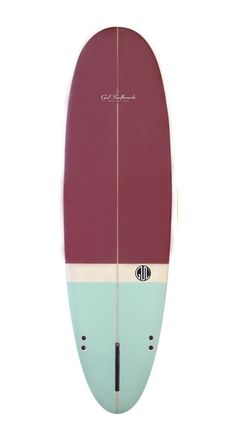 Watershed - Surfboards - Mini Mals - Gul Retro Egg 'Squat' 7' Maroon/Blue (Sanded Finish)