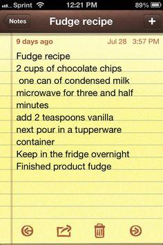 Easy fudge Recipe!