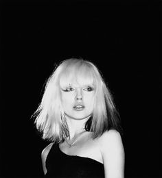 Debbie Harry looks amazing with this rock chic choppy bob and fringe.  see Andrew @ Redhed 02074368099