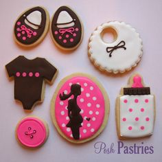 Baby Girl Themed Cookies by Posh Pastries